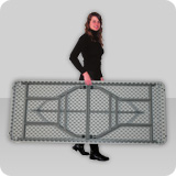 Mesas con patas plegables en polietileno de acero de - Patas plegables para tableros ...